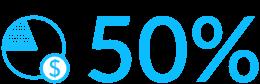 Znaczek oszczędności 50% - Luxon LED