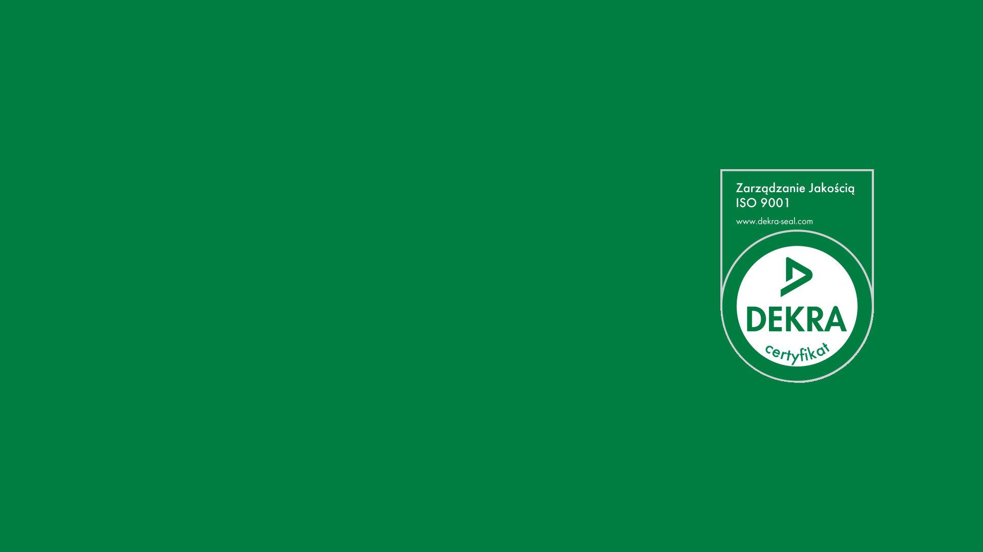 Logo Certyfikatu DEKRA przyznanego firmie Luxon LED