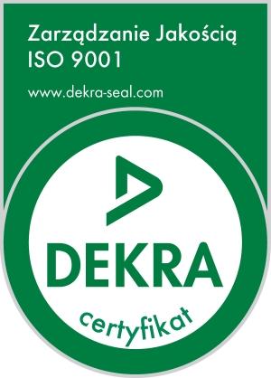 Znaczek logo certyfikatu jakości ISO 9001 - DEKRA Luxon LED