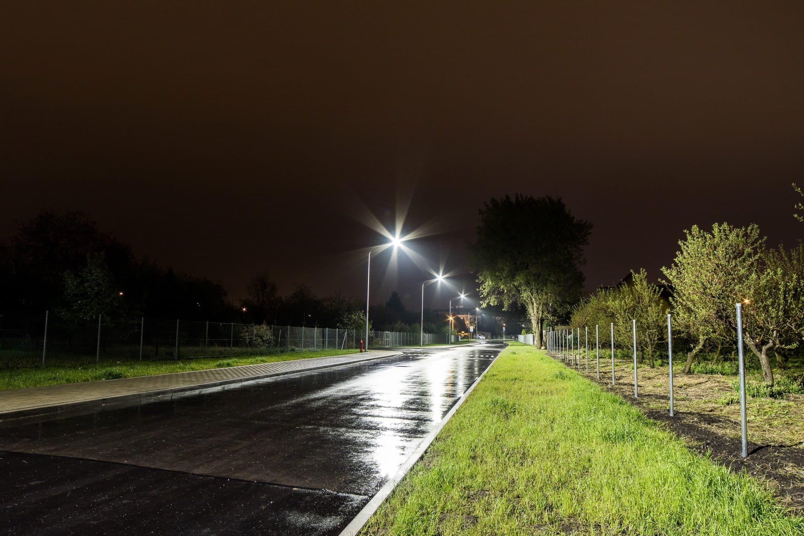 Oprawy uliczne Cordoba na ul. Ogórkowej we Wrocławiu - Luxon LED