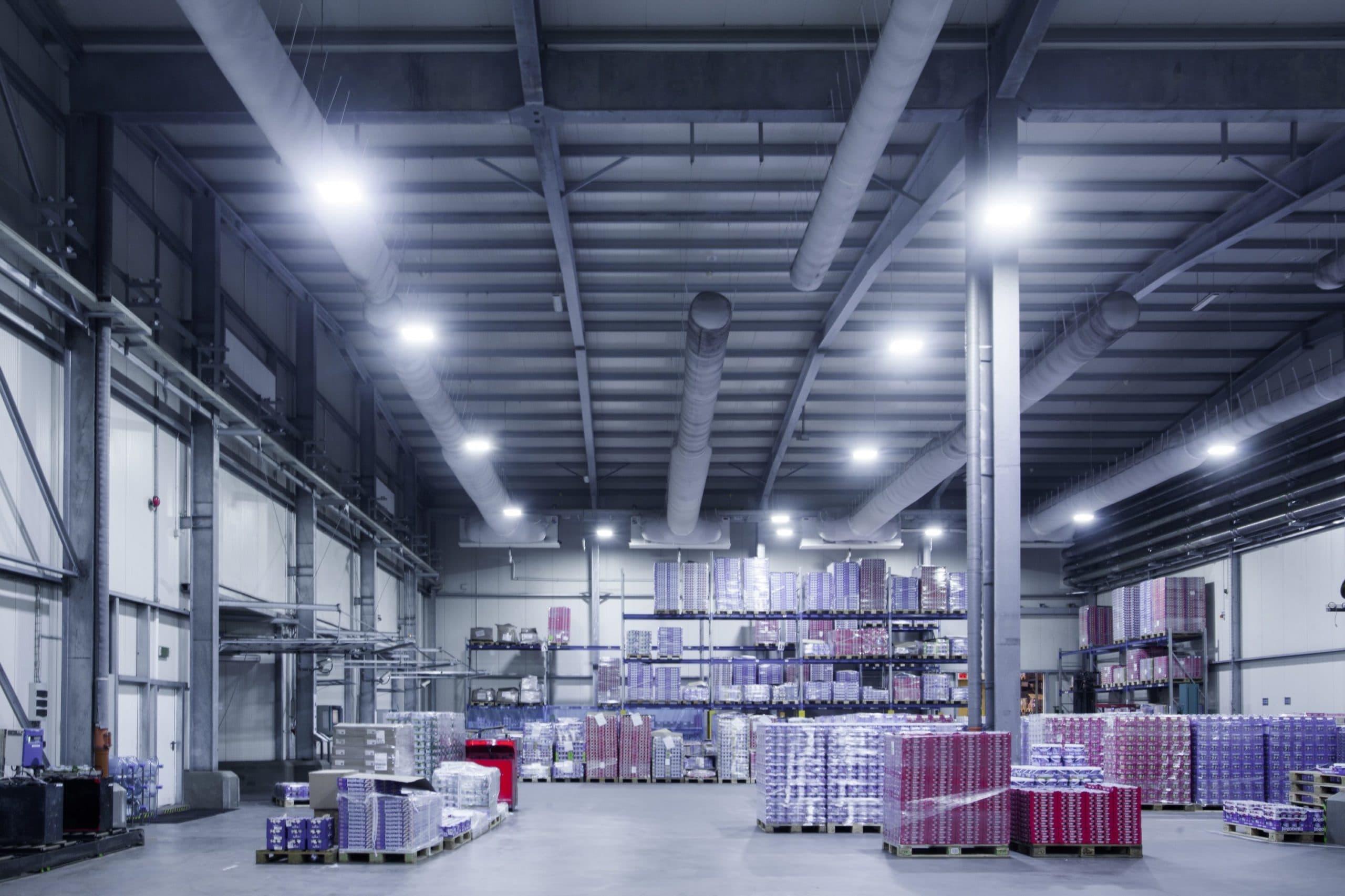 Modernisierung der Beleuchtung in einer Molkerei