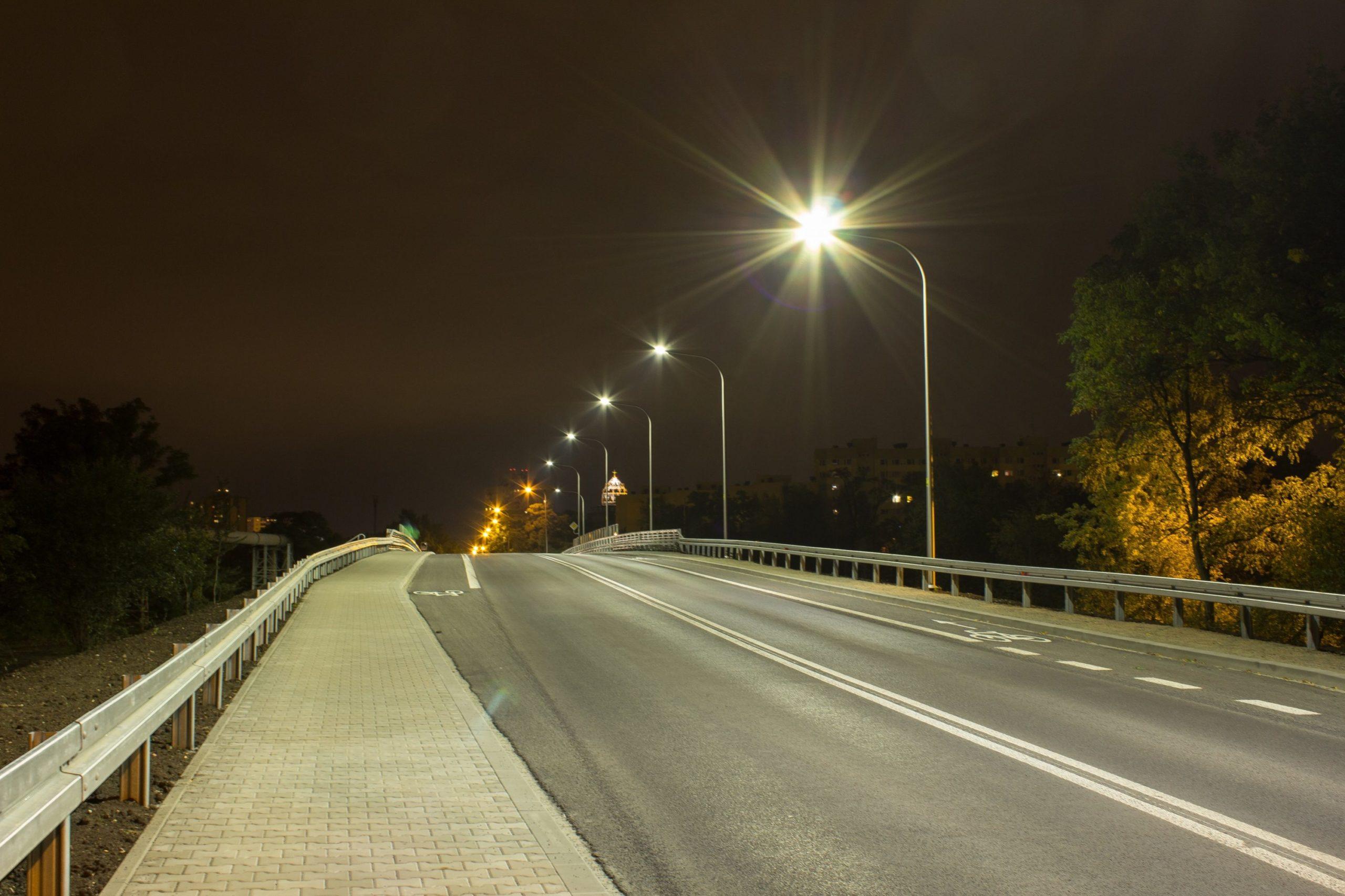 Oprawy Cordoba na wiadukcie we Wrocławiu - Luxon LED