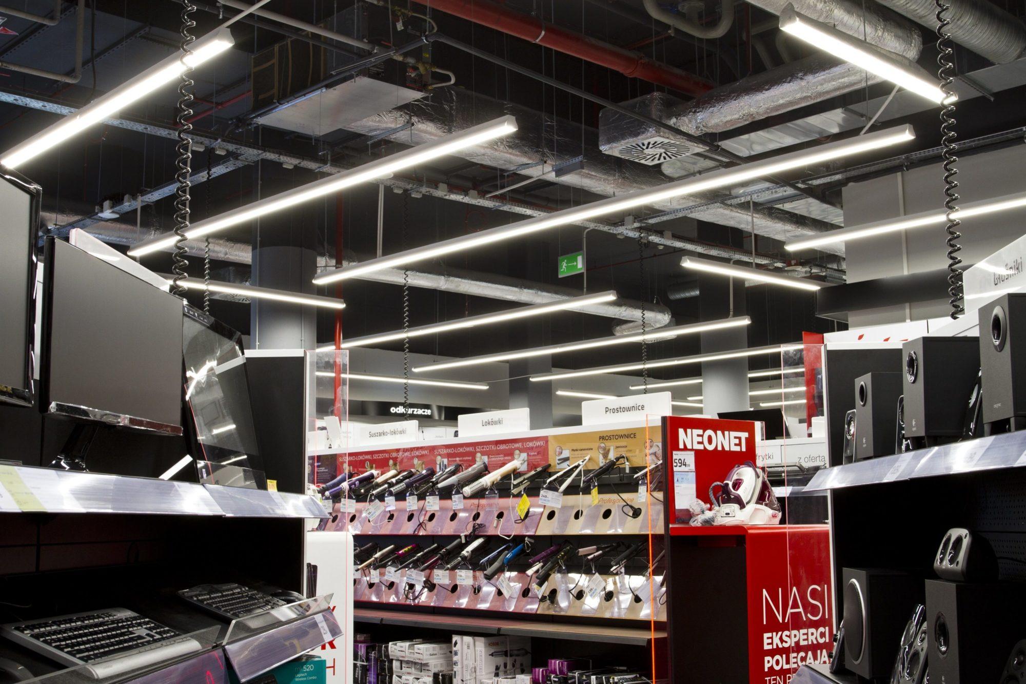 Beleuchtung von Ladenregalen