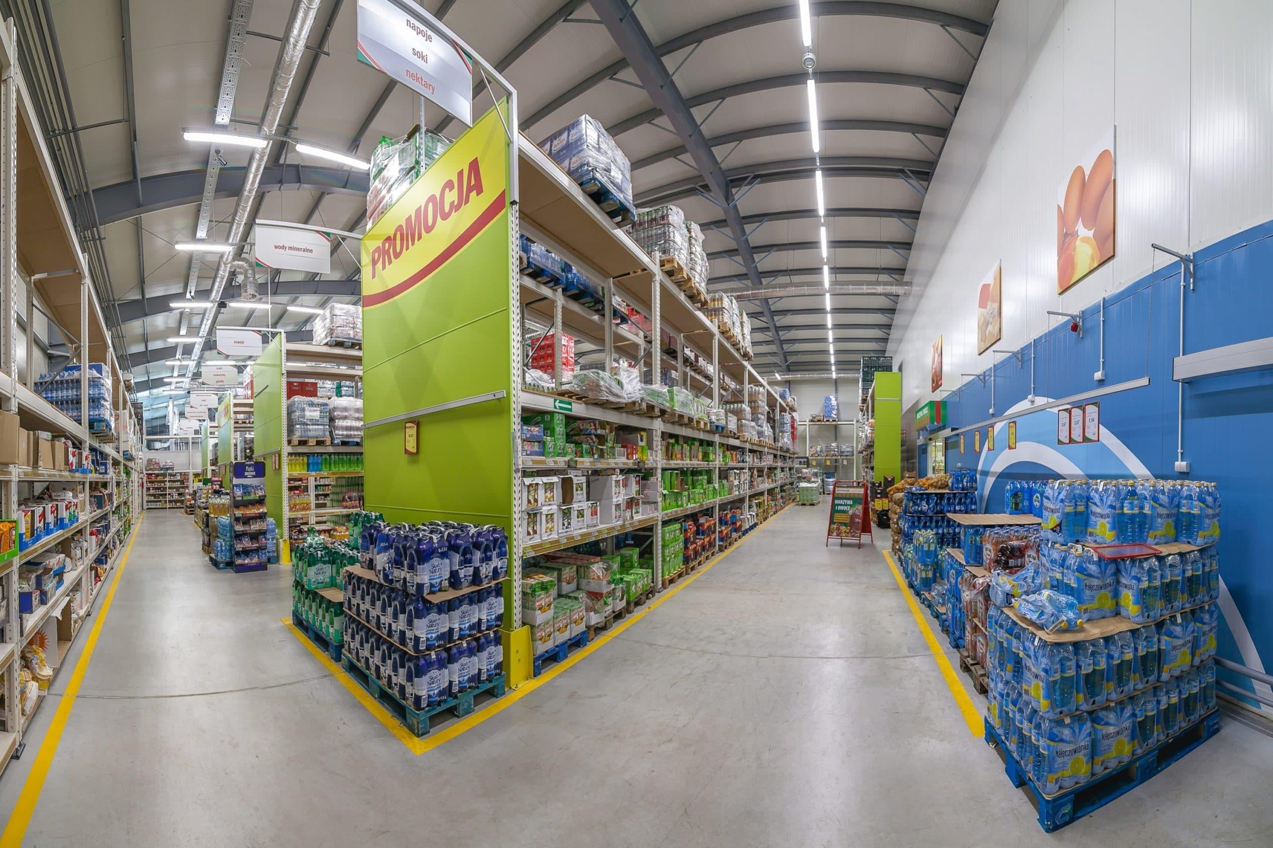 oprawy Industrial w markecie Eurocash - Luxon LED