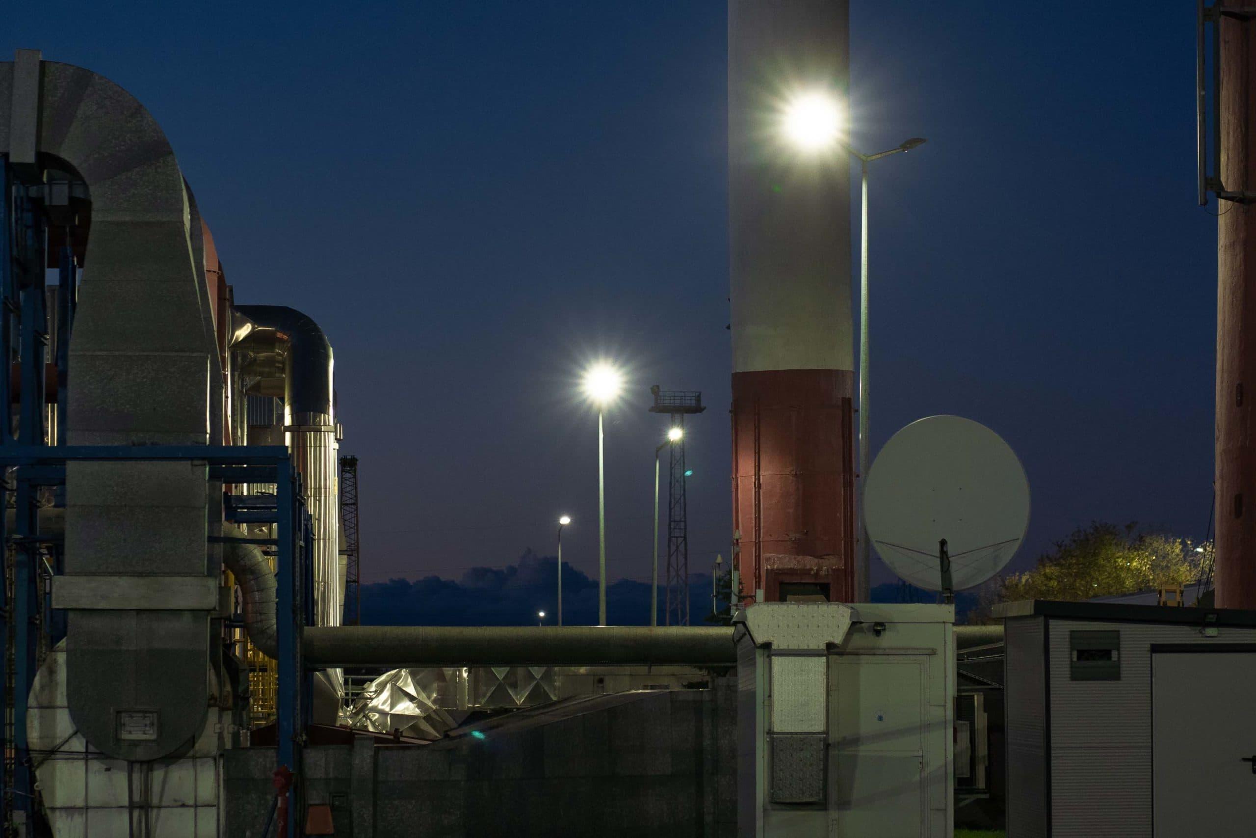 Beleuchtung für Wärmekraftwerk